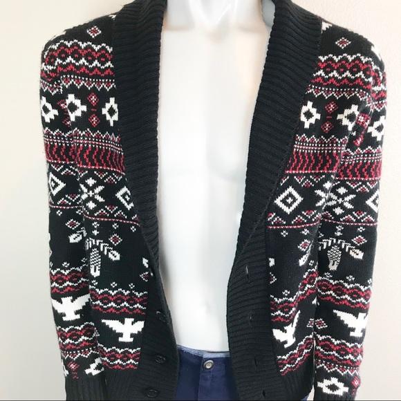 21men Other - 21 Men Shawl Patterned Cardigan Sweater